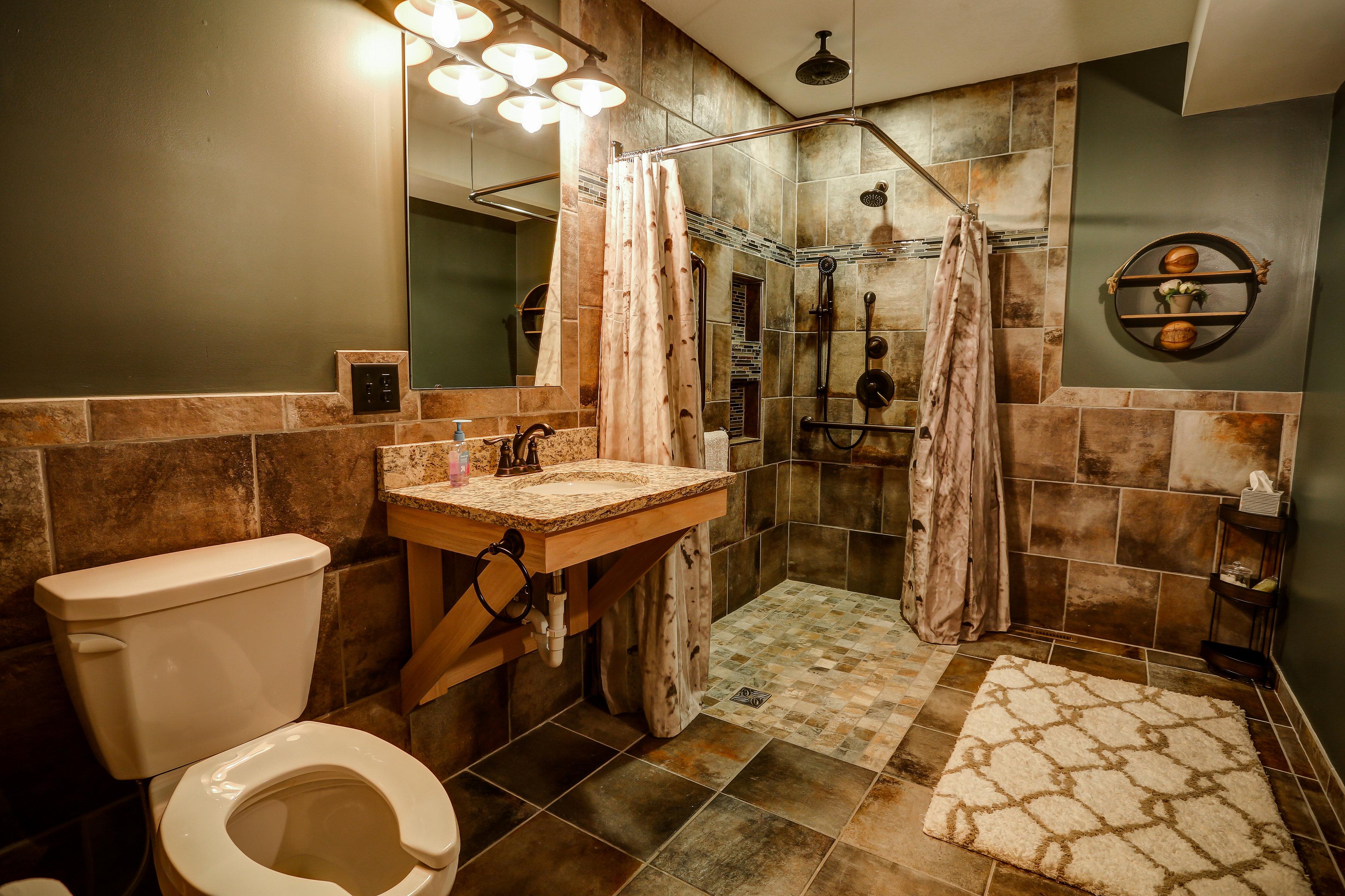 Main floor bedroom bath