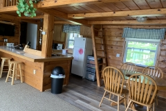The Cabin Kitchen/Dining to hallway