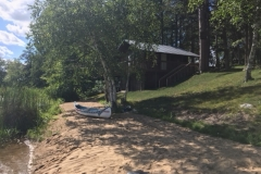 Cabin View from Beach