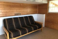 Cabin-basement-futon