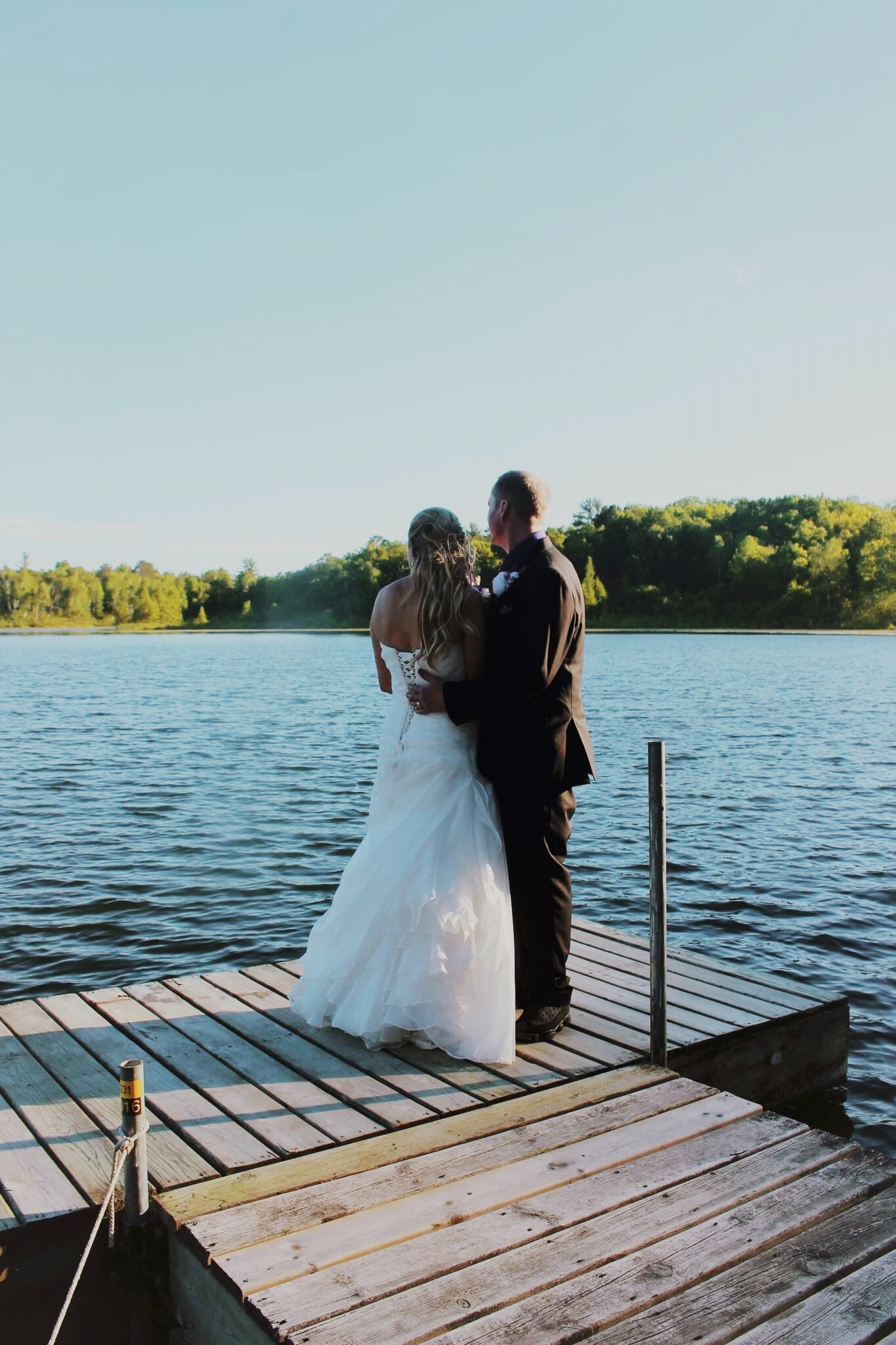 Couple on Lodge Dock