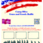 Camp Bliss 2018 Guns and Goods Raffle Poster