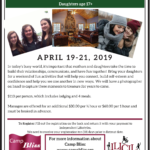 2019 Camp Bliss Retreat Flyer-Mother Daughter