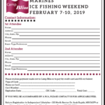 2019 Camp Bliss Retreat Registration-Marines Ice Fishing