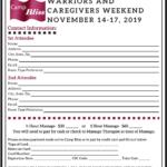 2019 Camp Bliss Retreat Registration-Warriors Caregivers