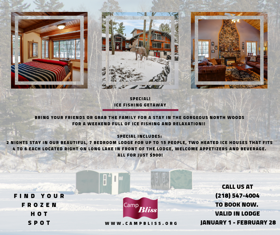 Camp Bliss Ice Fishing Flyer